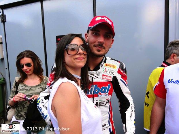 Grace e Davide Giugliano @ SBK Monza 2013-s