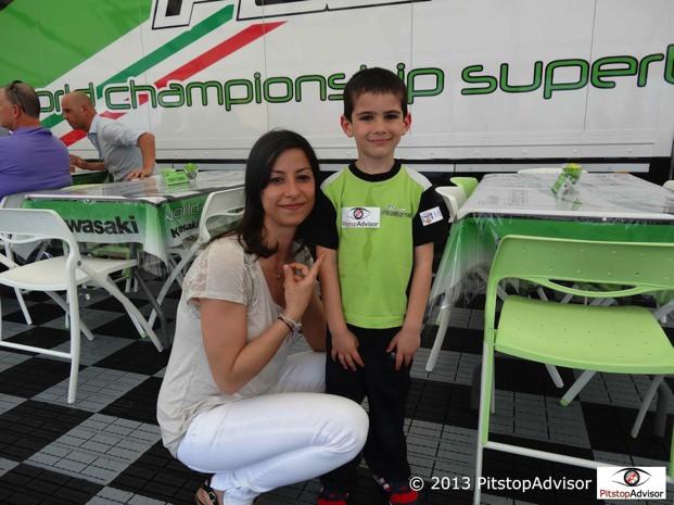 Grace e Samuele @ SBK Monza 2013-s