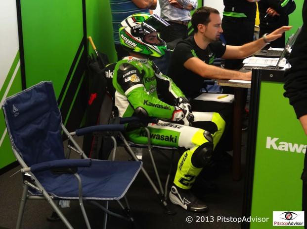 Sandi dopo le prove @ SBK Monza 2013-s