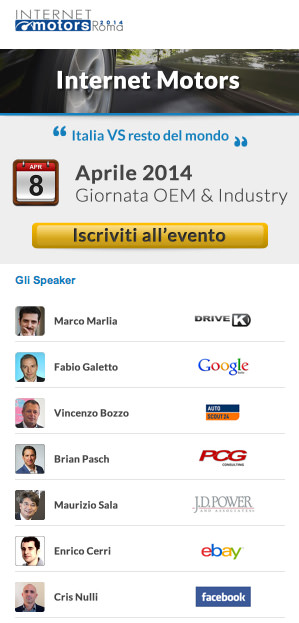 Internet Motors 2014 – PitstopAdvisor a Roma- speaker 2