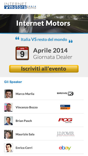Internet Motors 2014 – PitstopAdvisor a Roma- speaker