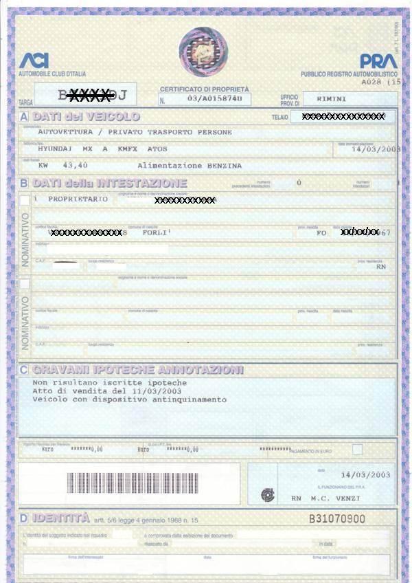 Passaggio di propriet auto costo documenti e procedura for Costo del garage di una macchina