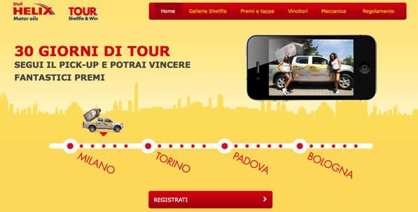Shell Helix- è partito il tour Shellfie & Win 2