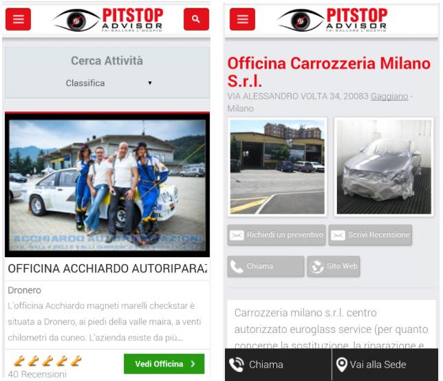 App per officine, concessionarie, recensioni- c'è l'App di PitstopAdvisor 4