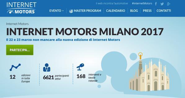 Internet Motors 2017 Milano: la rivoluzione nel Digital Automotive