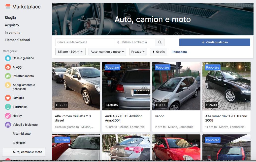 Comprare auto su Facebook: ecco come vendere e acquistare veicoli sul Marketplace
