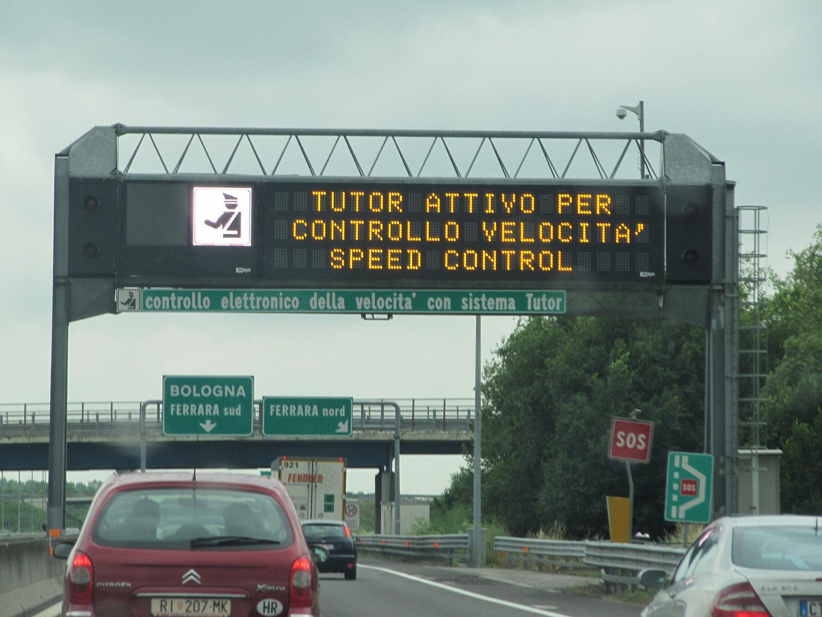 Autovelox e tutor alla vigilia di natale dove sono for Mobilifici italiani elenco fabbriche mobili in italia
